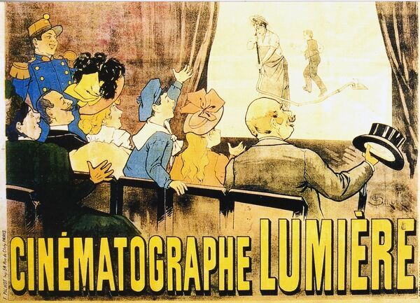 Cinematographe Lumiere Poster Advertising the Performances at the Grand Cafe Boulevard Des Capucines Paris, 1896 the Film on Screen is L'arroseur Arrose Aka the Waterer Watered