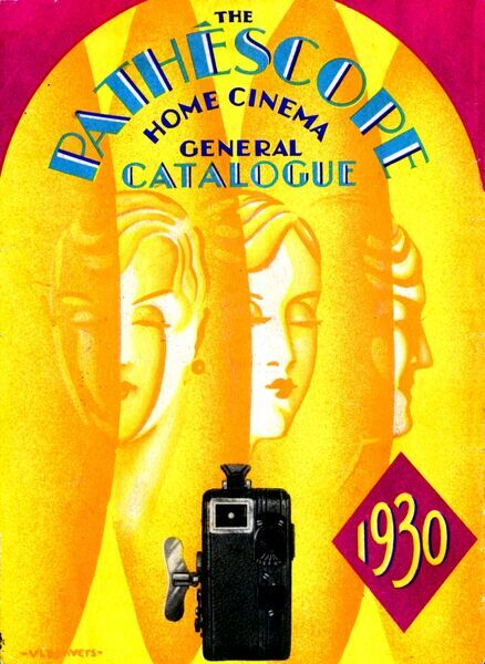 POSTERS. 1930 Pathescope Catalogue of home Movie Cameras, Projectors
